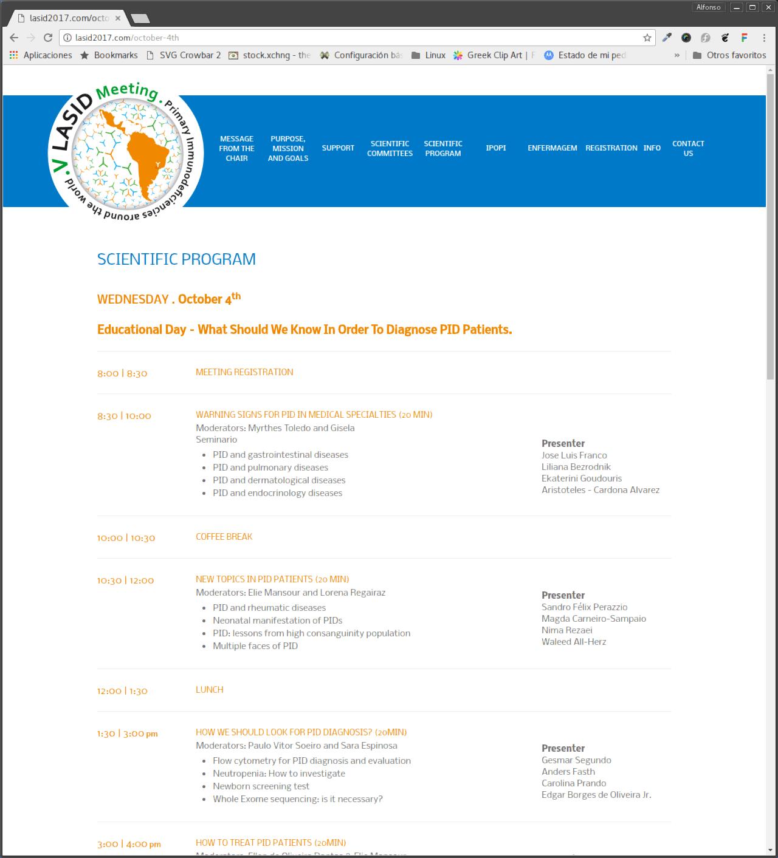 2017 LASID Meeting program is here