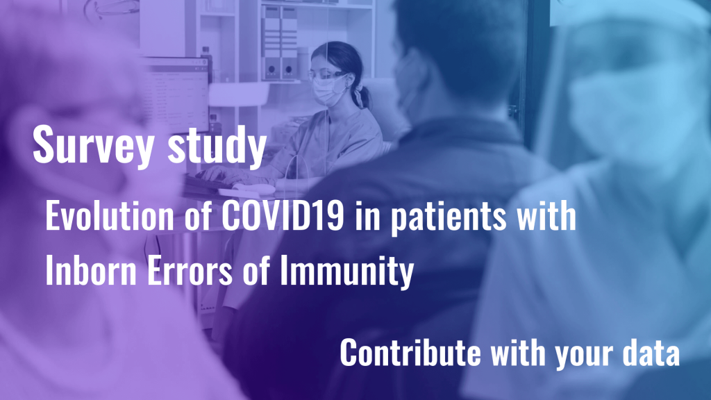 Study: evolution of COVID19 in patients with Inborn Errors of Immunity