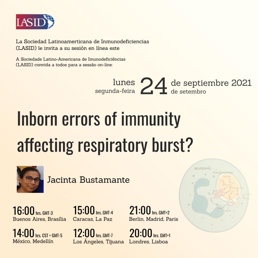 Inborn errors of immunity affecting respiratory burst?